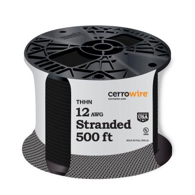 500 ft. 12/1 Black Stranded THHN Wire