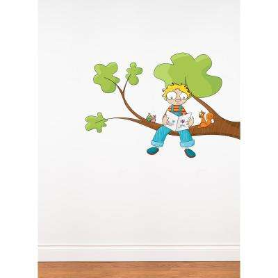 "(49 in x 30 in) Multi-Color ""Ludo Tells a Story"" Kids Wall Decal"
