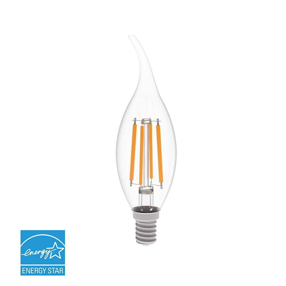 40-Watt Equivalent Warm White (2700K) BA10 Dimmable Clear LED Light Bulb