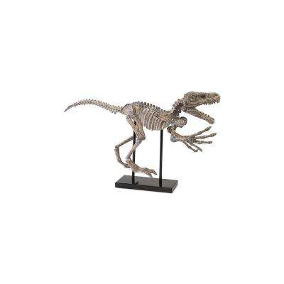 32 in. x 17 in. Borsari Dinosaur Decorative Figurine in Bone