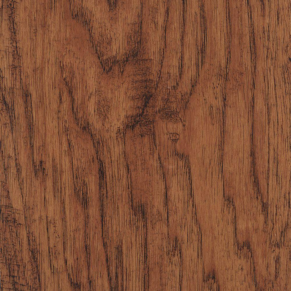 Home Legend Take Home Sample - Hand Scraped Distressed Burnished Hickory Vinyl Plank Flooring - 5 in. x 7 in.