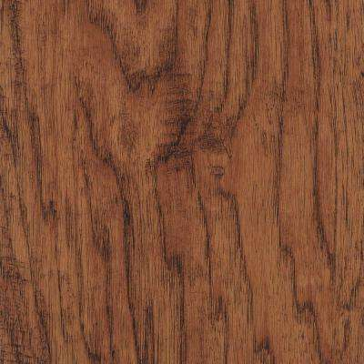 Take Home Sample - Hand Scraped Distressed Burnished Hickory Vinyl Plank Flooring - 5 in. x 7 in.