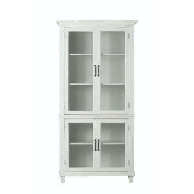 martin ivory glass door bookcase
