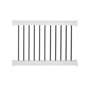 Deals on Weatherables Bellaire 3ft H x 4ft W White Vinyl Railing Kit
