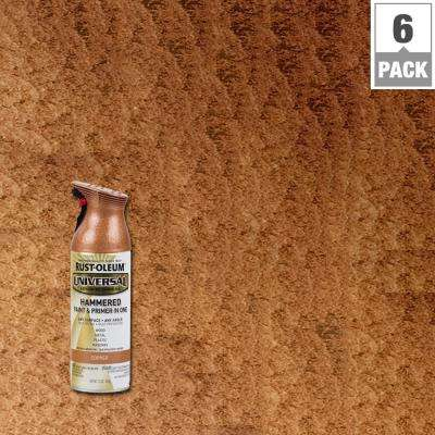 12 oz. All Surface Hammered Copper Spray Paint and Primer in One (6-Pack)