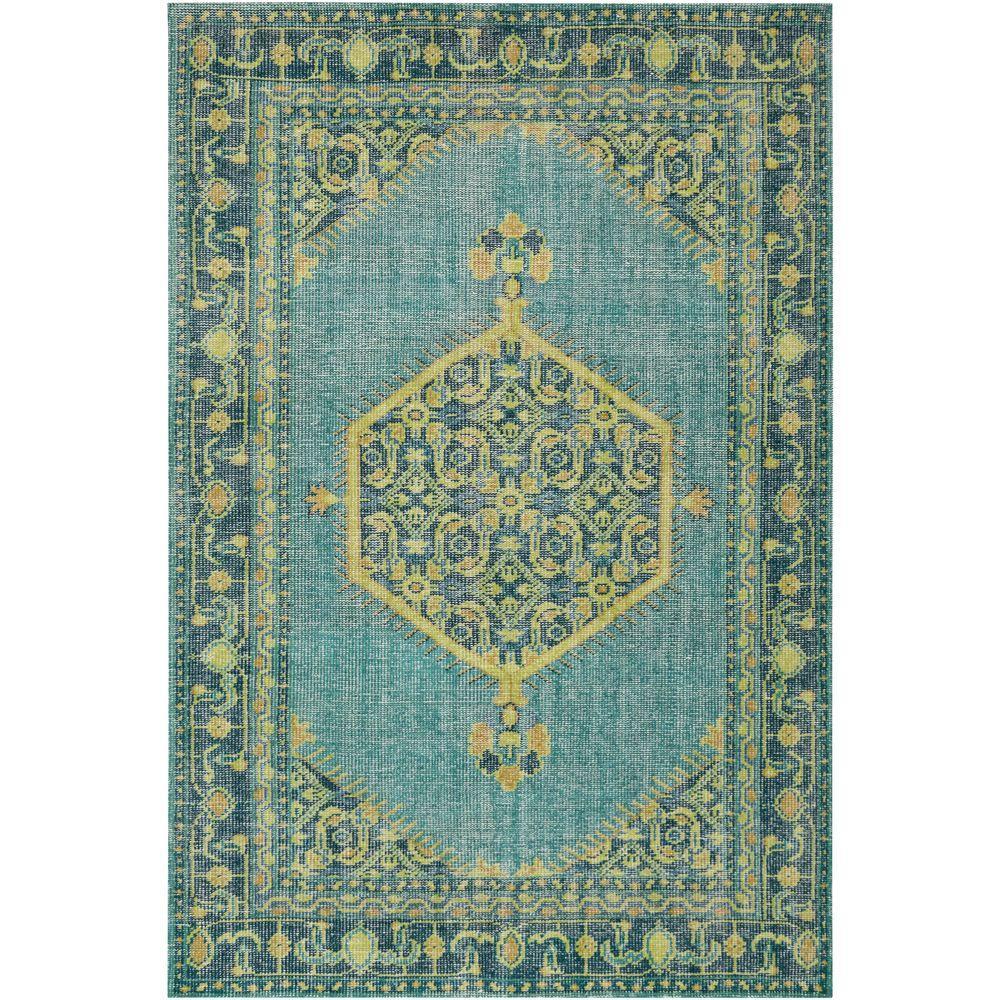 Zeno Teal (Blue) 5 ft. 6 in. x 8 ft. 6 in. Indoor Area Rug