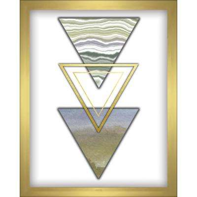 3-Triangles- Blue 8 in. x 10 in. Shadowbox Wall Art