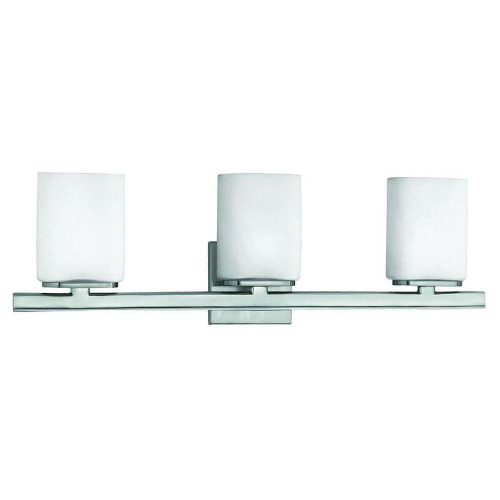 Eurofase Dolante Collection 3-Light Satin Nickel Bath Bar Light