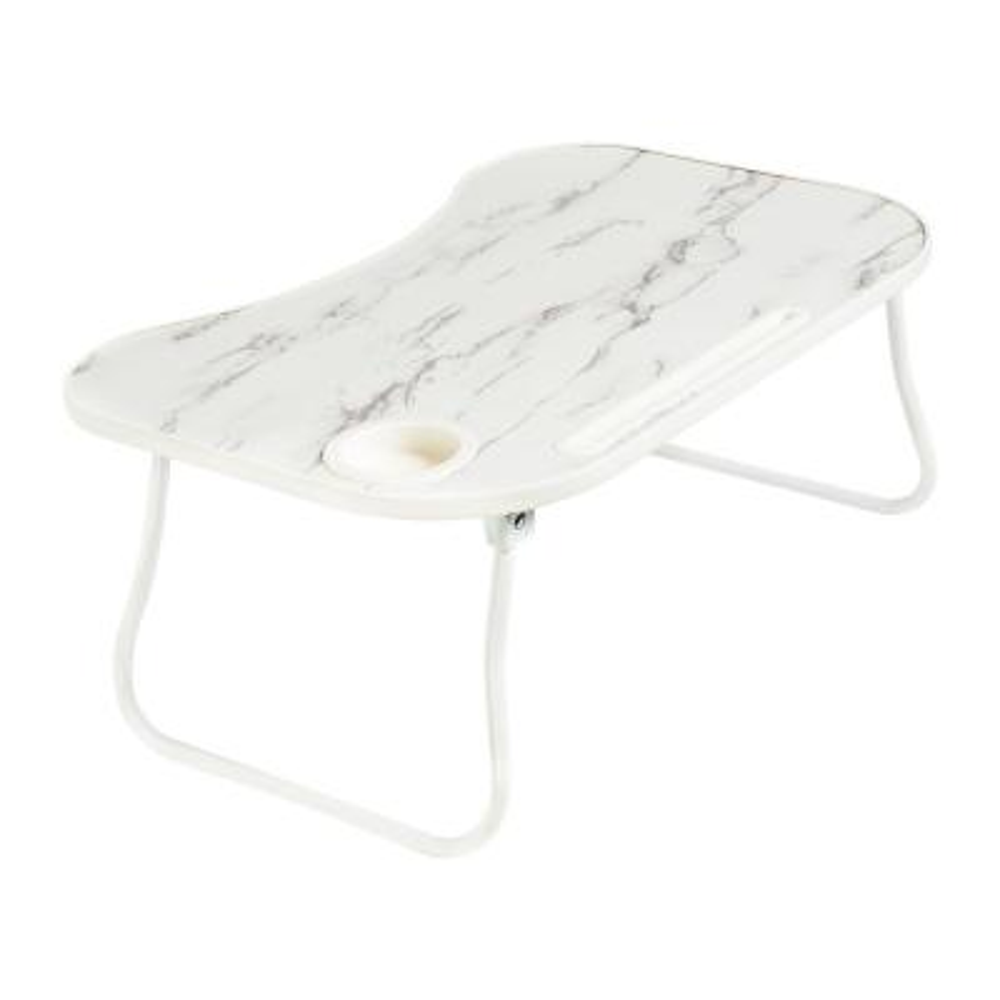 White/Faux White Marble Collapsible Folding Lap Desk