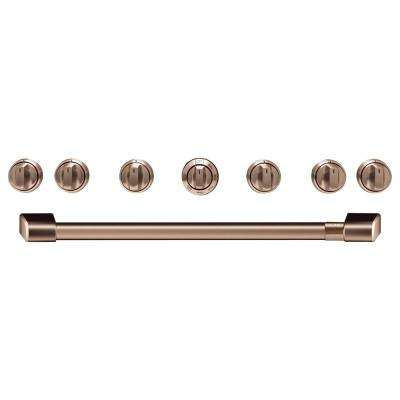 Gas Range Handle and Knob Kit in Brushed Copper