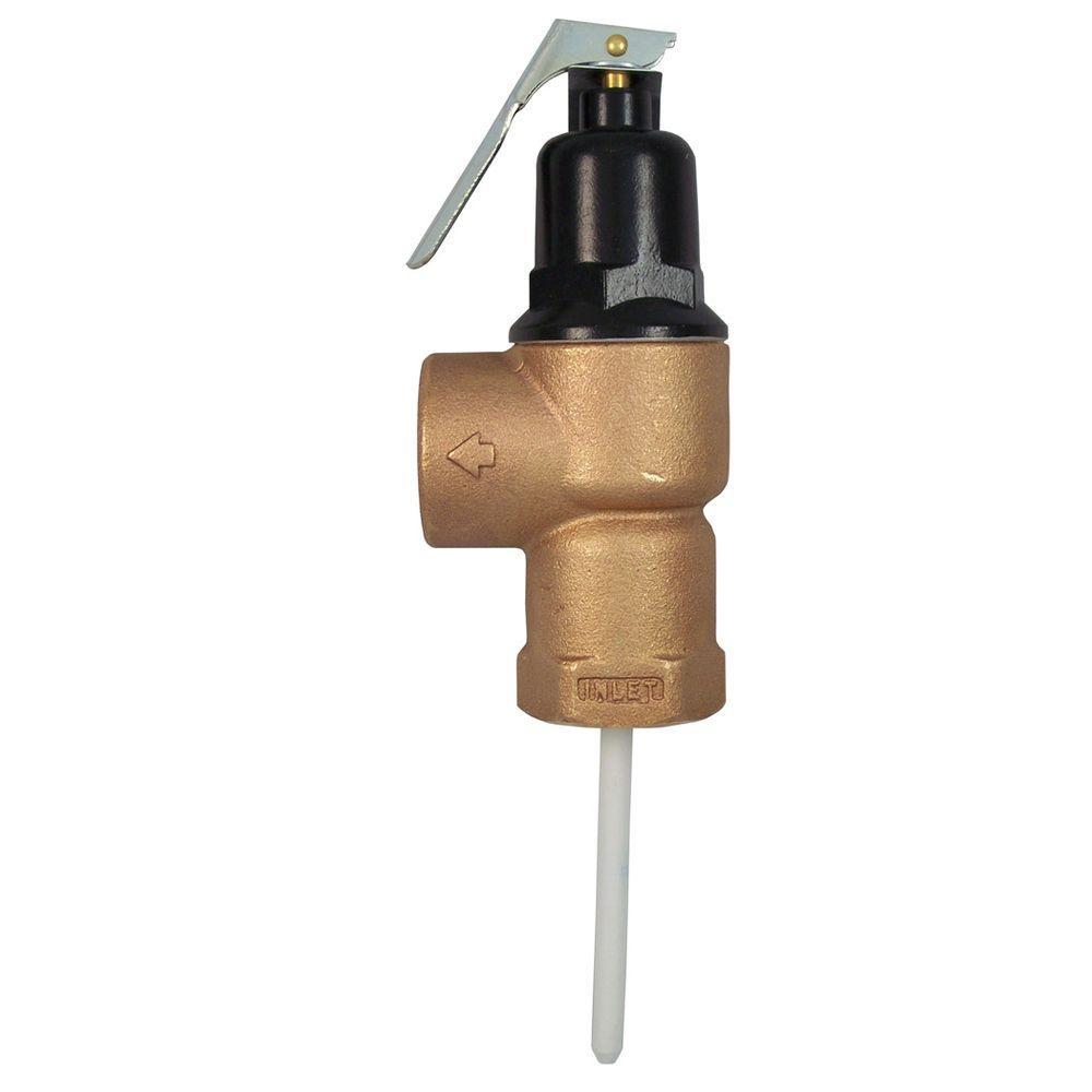 Cash Acme 1 in. Brass Female Inlet FVX-3C Temperature and Pressure Relief Valve