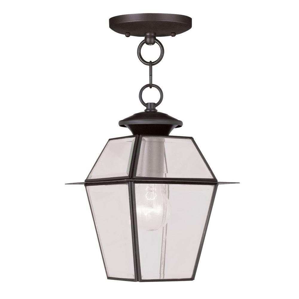 Livex Lighting Providence 1-Light Bronze Outdoor Hanging Lantern