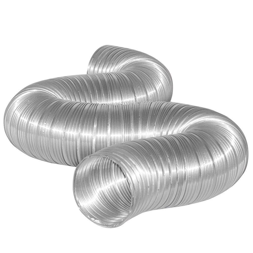 4 in. x 8 ft. Semi-Rigid Flexible Aluminum Dryer Vent Duct