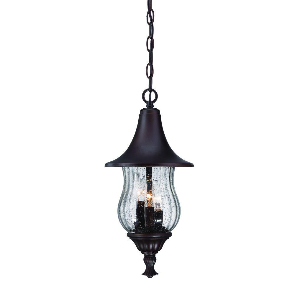 Del Rio Collection 3-Light Architectural Bronze Outdoor Hanging Lantern