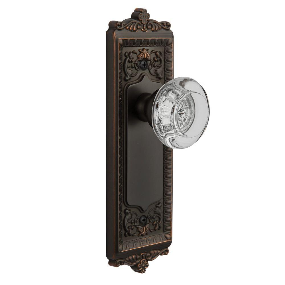 Grandeur Timeless Bronze Dummy Windsor Plate with Bordeaux Crystal Knob