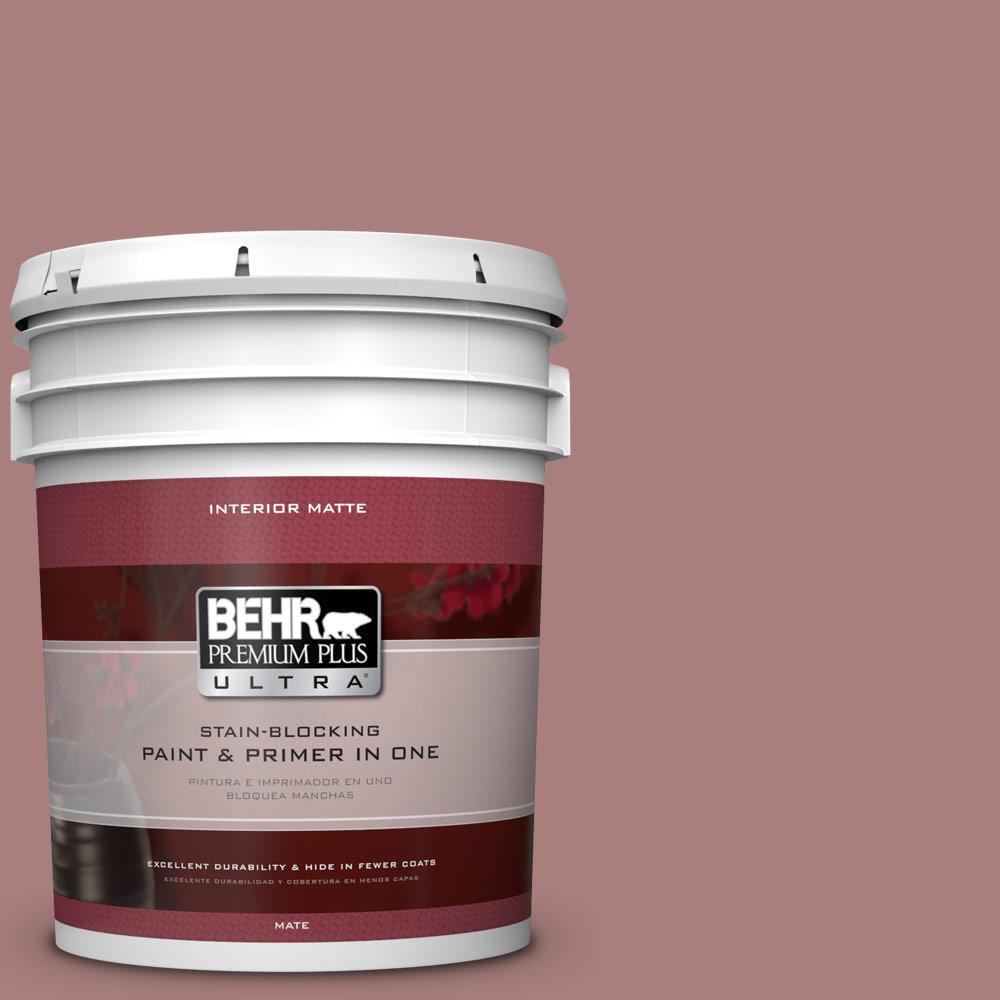 5 gal. #140F-4 Bedford Brown Flat/Matte Interior Paint