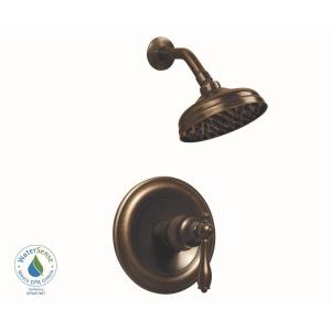 shower head and faucet combo. Glacier Bay Estates 1 Spray Handle Shower Faucet in Heritage Bronze  Valve Included 874W 1196H The Home Depot
