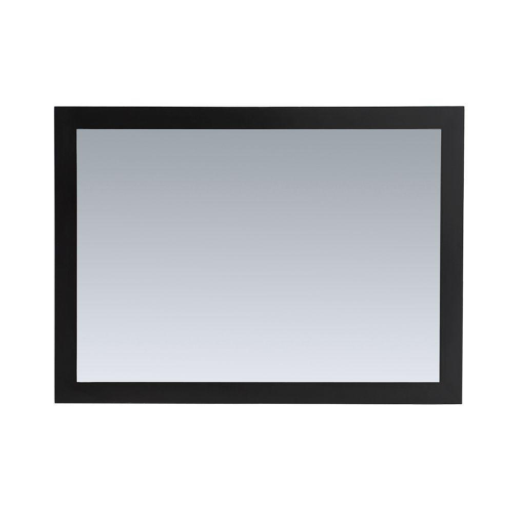 Belle Foret Jason 44 in. x 32 in. Framed Wall Mirror in Espresso