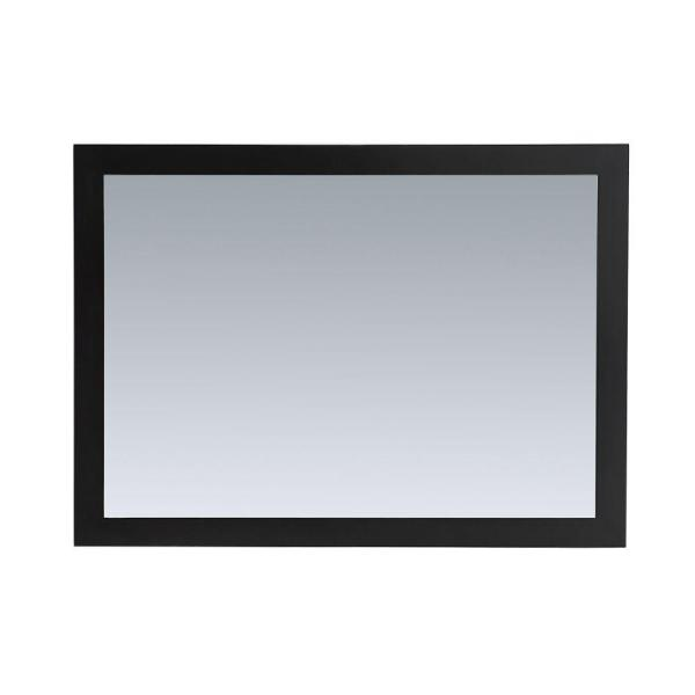 44 in. W x 32 in. H Framed Rectangular Bathroom Vanity Mirror in Espresso