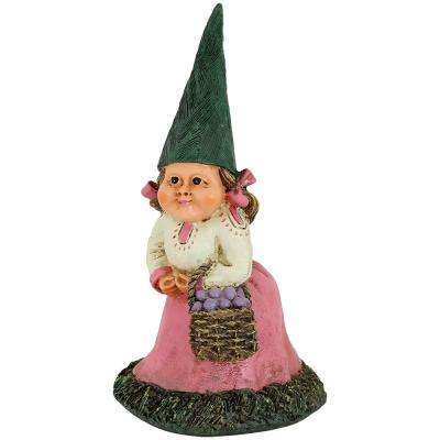 8 in. Isabella the Lady Gnome Garden Statue