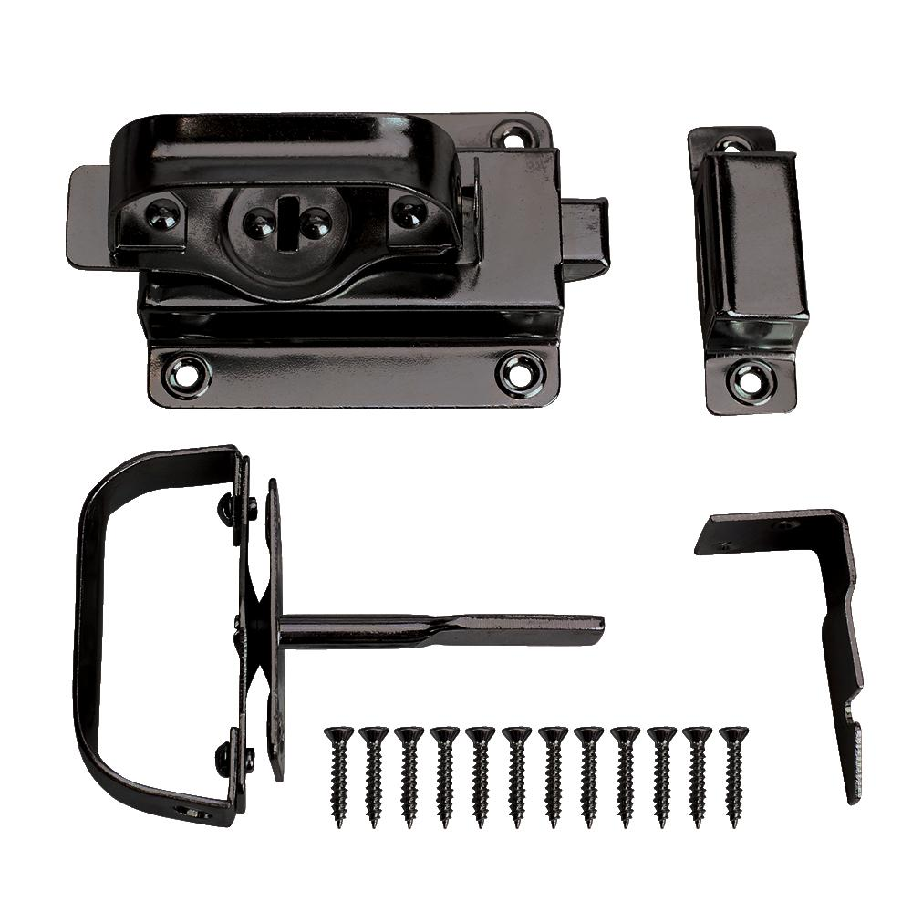 Black Swinging Door Latch