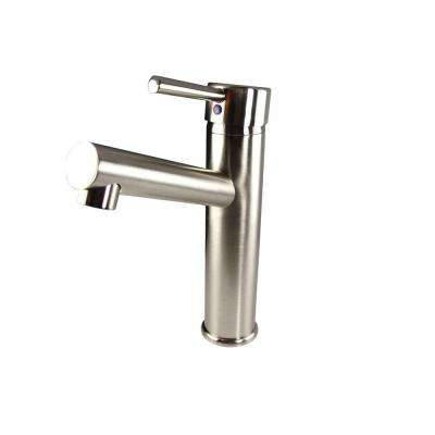 Savio Single Hole 1-Handle Mid-Arc Bathroom Faucet in Brushed Nickel