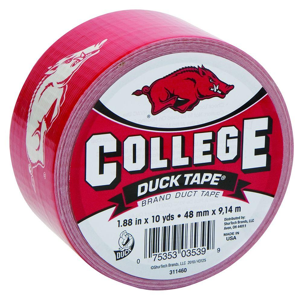 College 1-7/8 in. x 30 ft. University of Arkansas Duct Tape