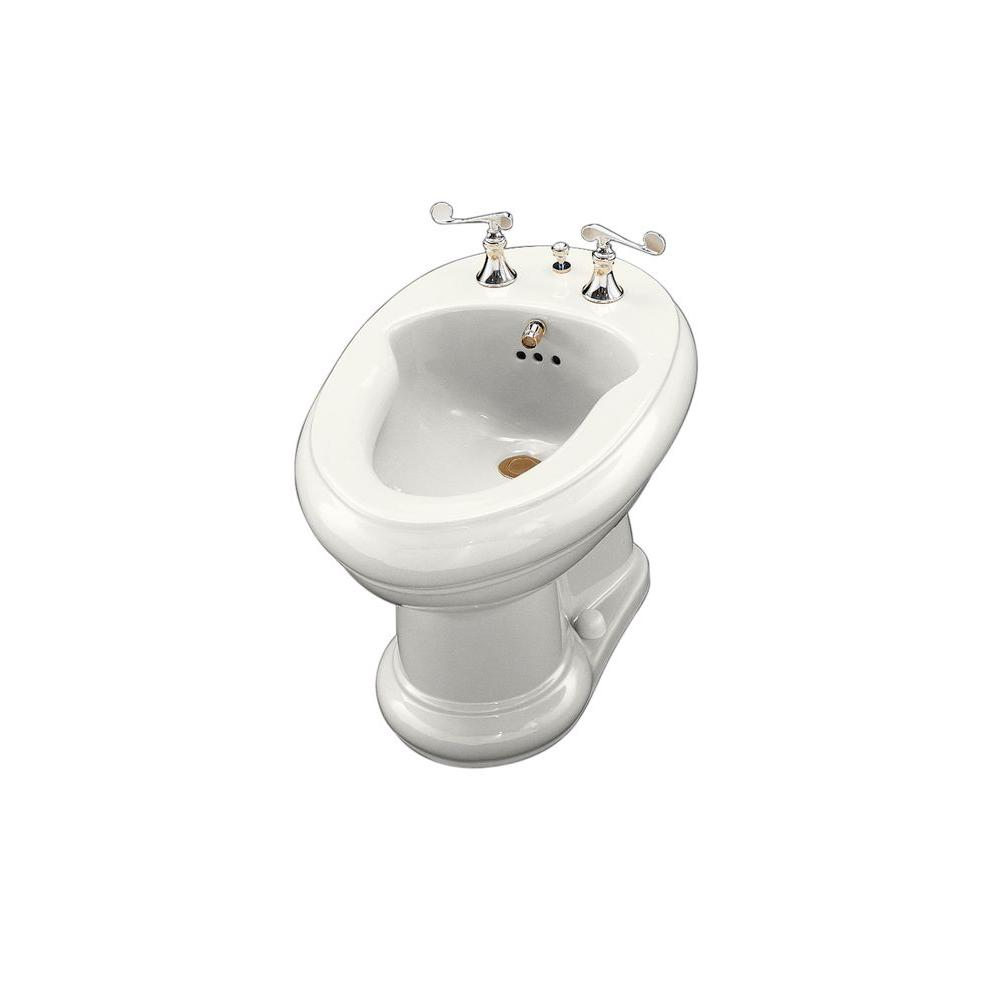 KOHLER Revival Bidet, Plumbed for Horizontal Spray Bidet Faucet in White-DISCONTINUED