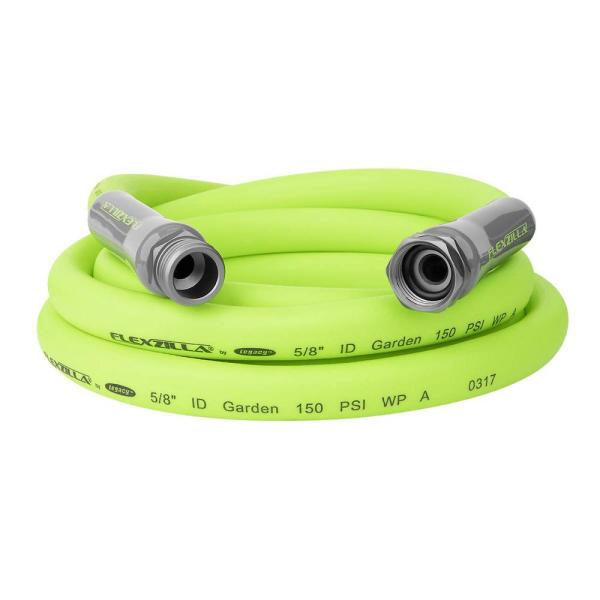 Flexzilla 5 8 In X 10 Ft Garden Lead In Hose With 3 4 In Ght Fittings Hfzg510yw The Home Depot