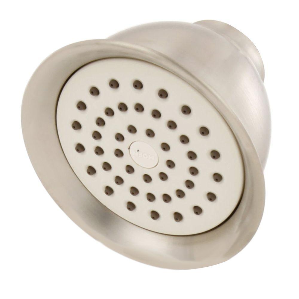 MOEN XL 1-Spray 4-3/8 in. Showerhead in Brushed Nickel