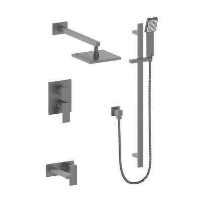 ZLINE Bliss 2-Spray Handshower and Showerhead Combo Kit in Black Stainless Steel