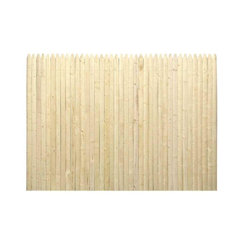 Barrette 6 Ft H X 8 Ft W 3 In Gothic Fence Panel 73000308 The Home Depot