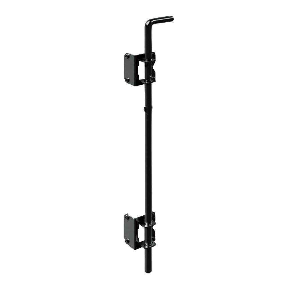 24 in. Black Metal Heavy Duty Fence Drop Rod