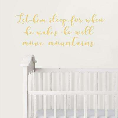 Neutral Move Mountains Wall Wish Wall Decal
