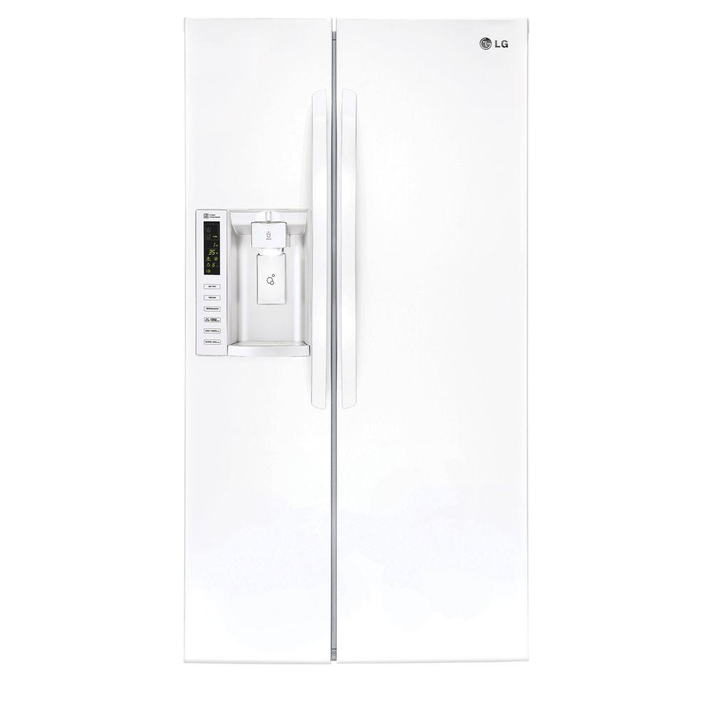 Lg Electronics 2616 Cu Ft Side By Side Refrigerator In Stainless