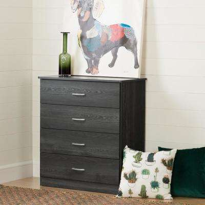 Libra 4-Drawer Gray Oak Chest