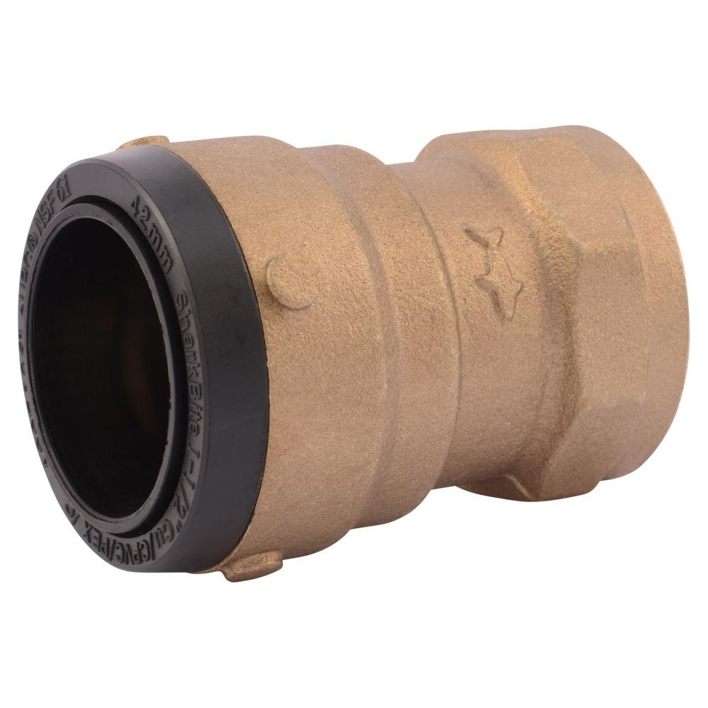1-1/2 in. Brass Push-to-Connect x Female Pipe Thread Adapter