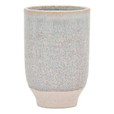 7.75 in. Ceramic Flower Pot in White