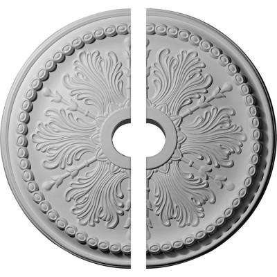 27-1/2 in. O.D. x 4 in. I.D. x 1-1/2 in. P Windsor Ceiling Medallion (2-Piece)