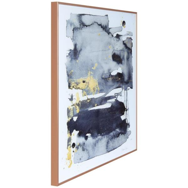 Empire Art Direct Gray Golden Hues 1 2 On Reverse Printed Art Glass And Anodized Aluminum Rose Gold Framed Glass Wall Art Aagg 134086 87 2424 The Home Depot