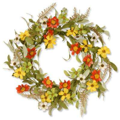 20 in. Garden Accents Sunflower Wreath