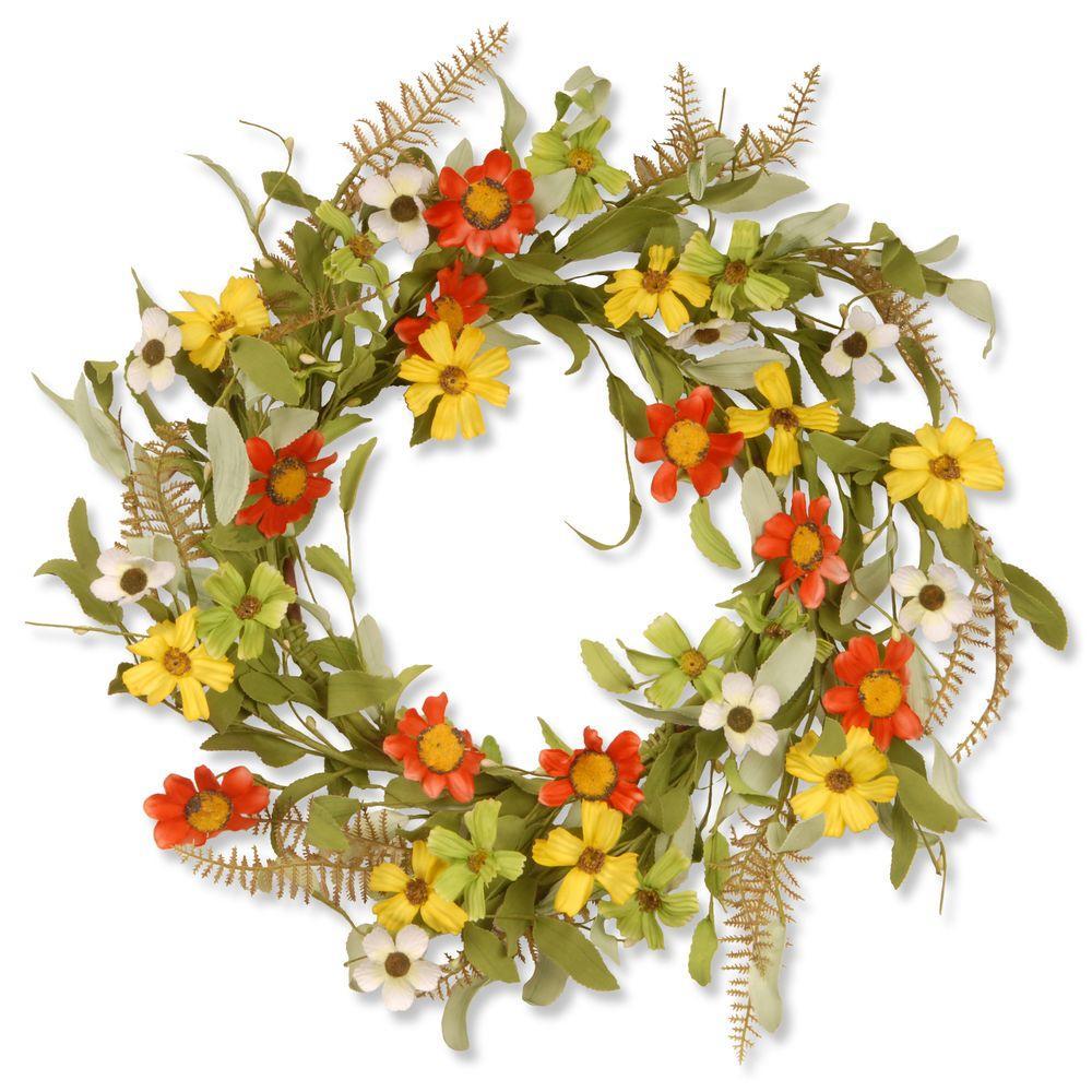 20 in. Garden Accents Sunflower Wreath