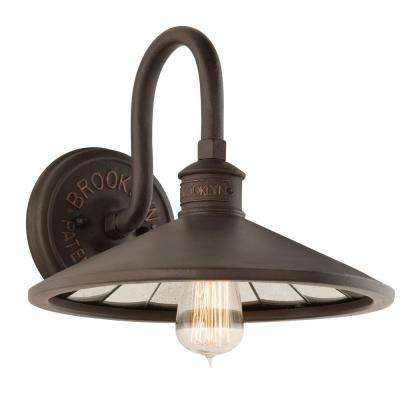 Brooklyn 1-Light Brooklyn Bronze Wall Sconce  sc 1 st  Home Depot & Troy Lighting - Standard - Metal - Sconces - Lighting - The Home Depot