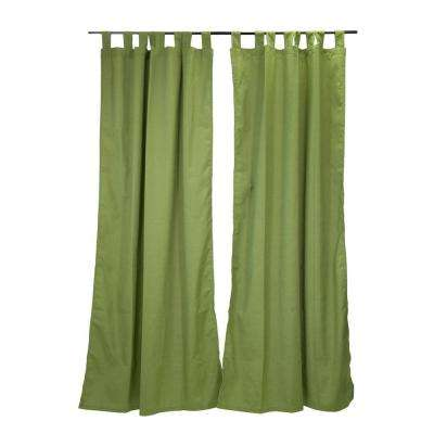 50 in. x 96 in. Spectrum Cilantro Outdoor Tab Top Curtain Panel