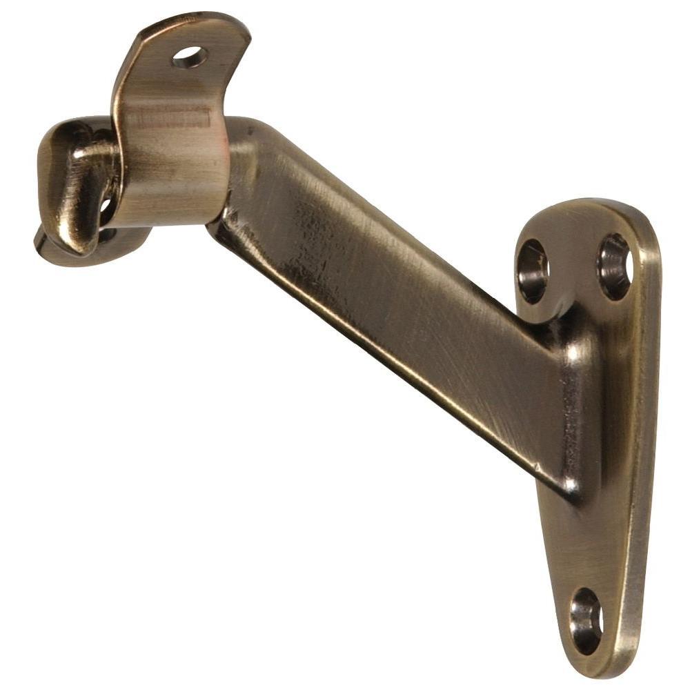 Antique Brass Heavy Duty Handrail Bracket (5-Pack)