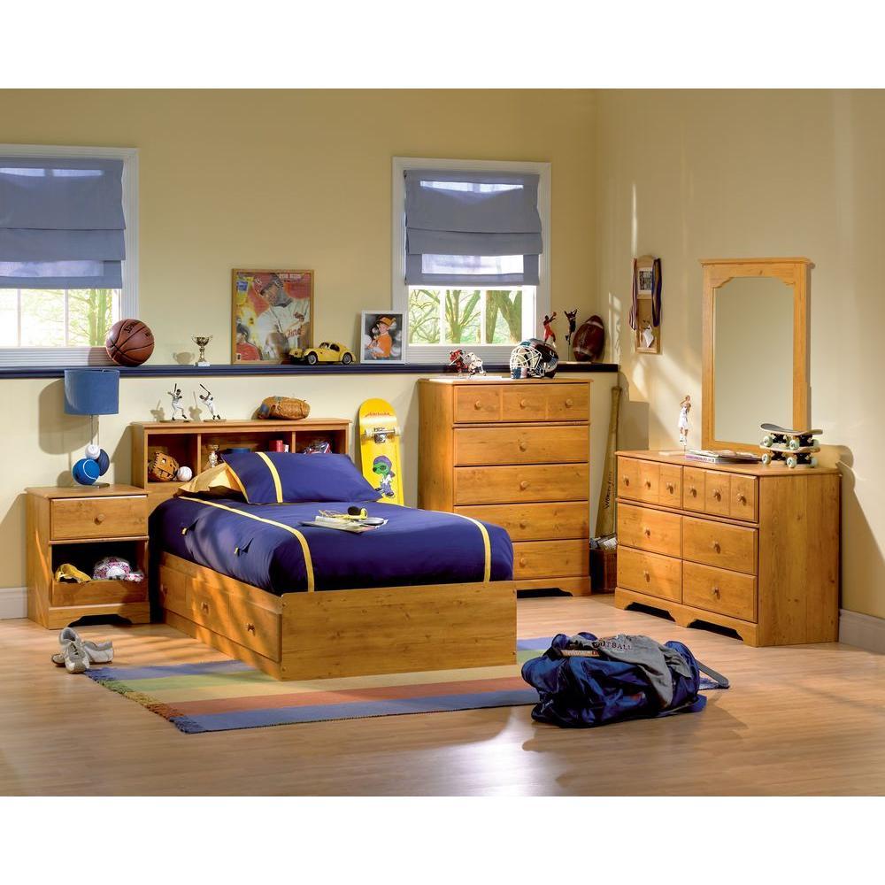 Little Treasure 6-Drawer Country Pine Dresser