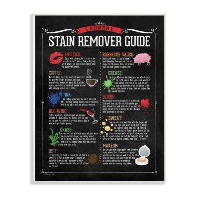 "12.5 in. x 18.5 in. ""Laundry Stain Remover Guide"" by Stephanie Workman Marrott Printed Wood Wall Art"