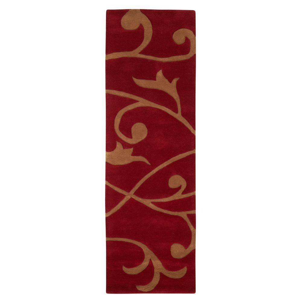 Home Decorators Collection Perpetual Red 2 ft. 6 in. x 8 ft. Rug Runner