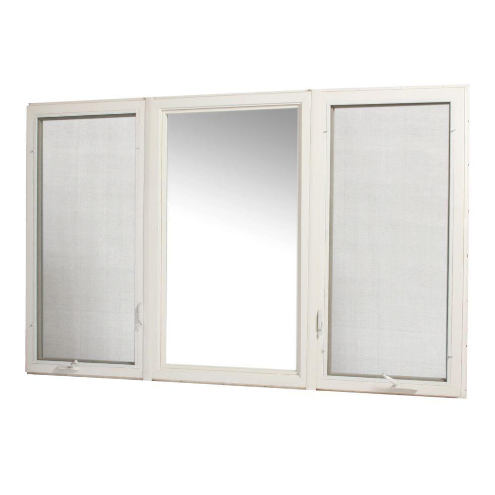 Tafco windows 96 in x 60 in vinyl casement window with for Vinyl insulated windows