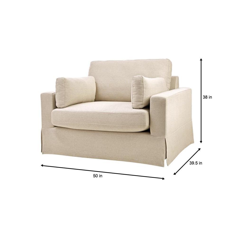 Phenomenal Home Decorators Collection Addilyn Linen Jute Arm Chair Evergreenethics Interior Chair Design Evergreenethicsorg